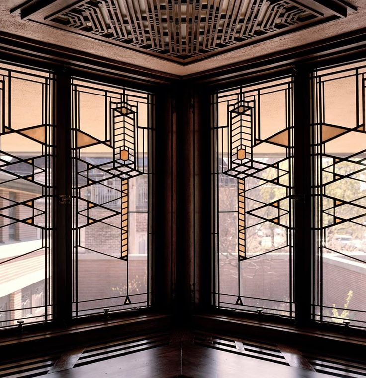 The Robie House Stained Glass Windows Frank Lloyd Wright