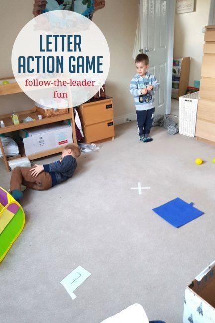A learning letters action game is perfect for action preschoolers!