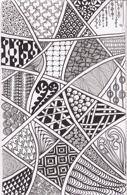 Zentangle Patterns 25+ best ideas about Z...