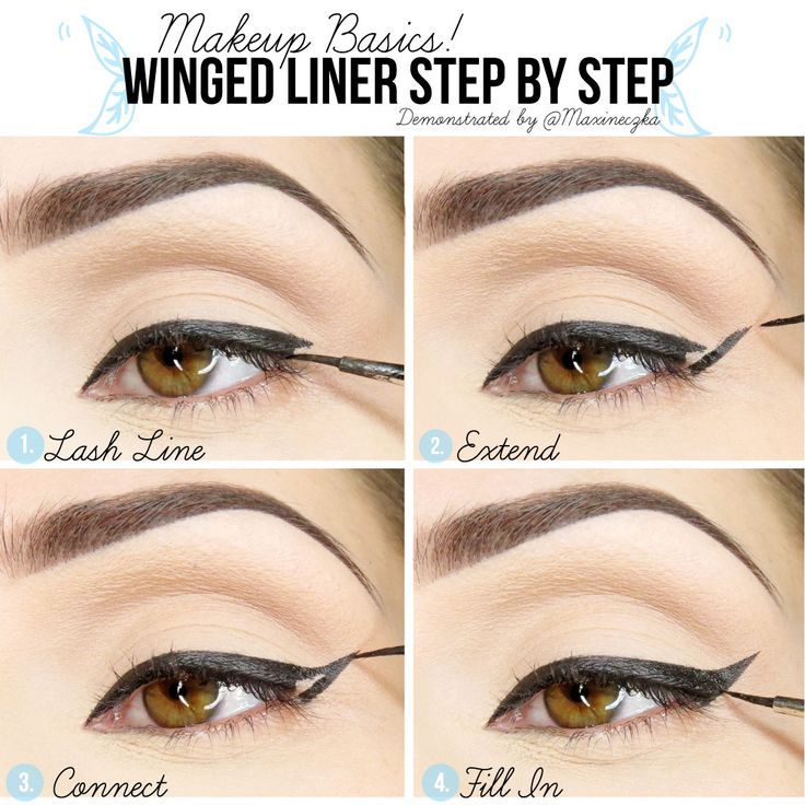 Something Winged eyeliner step by step are