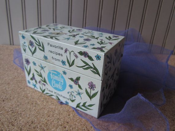 Vintage Recipe Box by Family Circle by VintageSouthernPicks