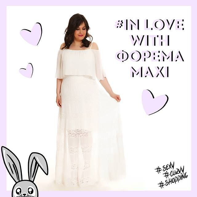 #dress #maxi #love #inlove #fashion #plussize #woman #white #wedding  www.happysizes.gr