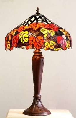Maple Leaf Red Tiffany Tiffany Table Lamp CR17TL