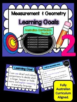 Grade 2 Mathematics  Measurement and Geometry, Learning Goals and Success Criteria Posters This packet has all the posters you will need to display the learning goals for Grade 2 Australian Curriculum Maths  Measurement and Geometry. All content descriptors have been reworded into smart goals with an accompanying poster showing the success criteria needed to achieve these goals.