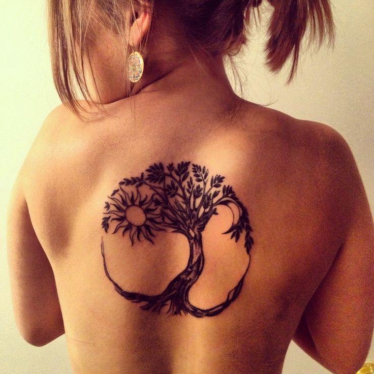 Amazing-Tree-Of-Life-Tattoo-On-Upper-Back.jpg (736×736)