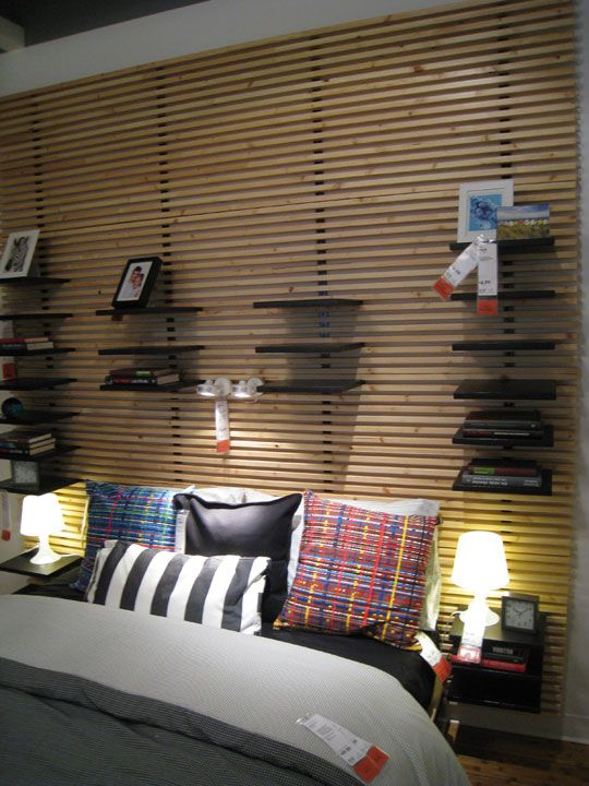 Ikea Aspelund Queen Bed Frame ~   Headboards Ikea, Ikea Mandal Headboard, Projectors, Wall, Headboard