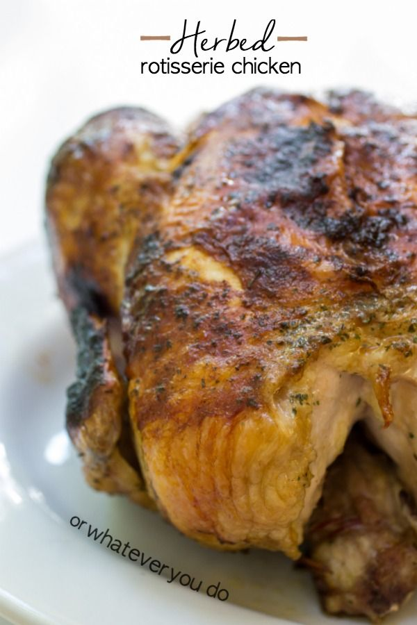 Herbed Rotisserie Chicken  a GREAT giveaway from Napoleon! Win grilling gloves and an apron!