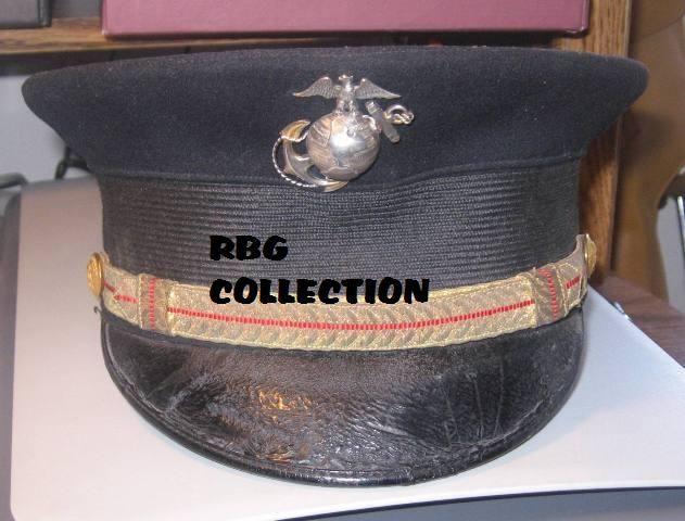 Marine Corps Officers Dress Hat, World War One.