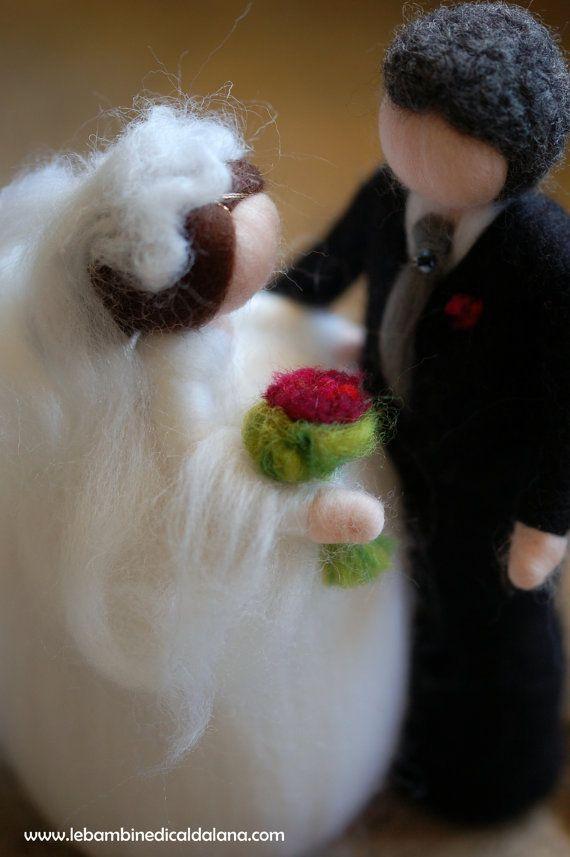 Sposi, in lana fiaba, ispirazione Waldorf