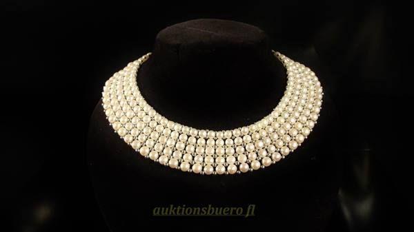 Perlencollier mit 925er Silber (1076) in Balzers kaufen bei ricardo.ch