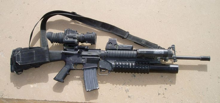 M-16 A4 with M203 grenade launcher