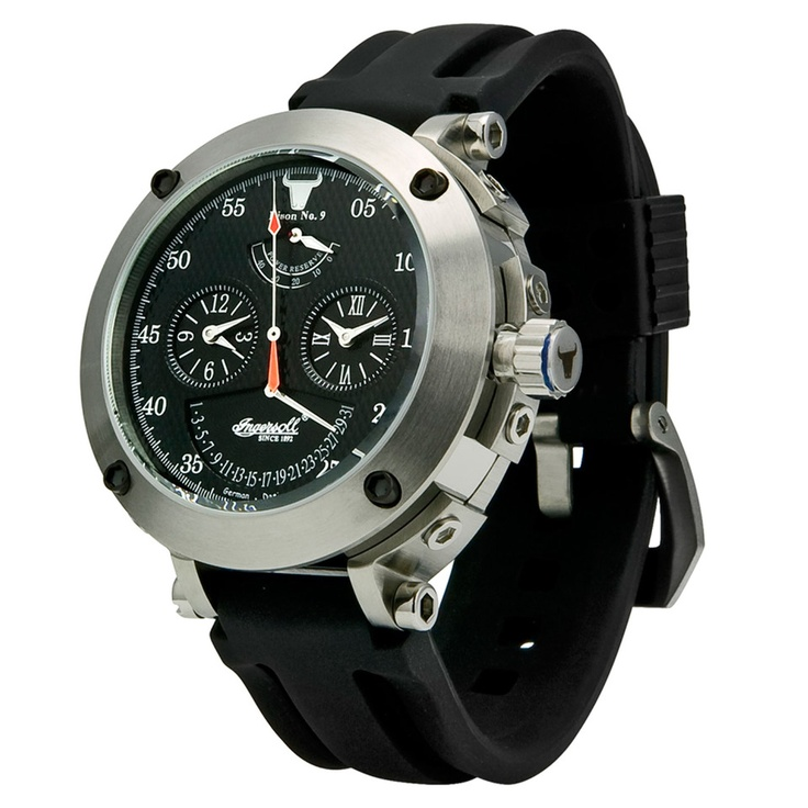Ideas Watches Ar1919 Black Brown Leather Chronograph Mens Watch