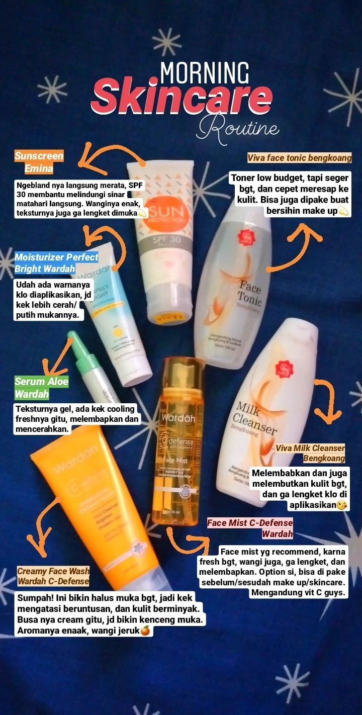 Skincare Remaja Skincare Morningskincare Wardah Emina Viva Toner Creamywash Facialwa Di 2020 Perawatan Kulit Perawatan Kulit Alami Produk Perawatan Kulit Alami