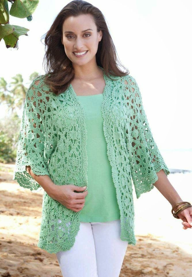 Free Crochet Pattern Lace Sweater : 1000+ images about Crochet Womens Cardigans, Jackets on ...