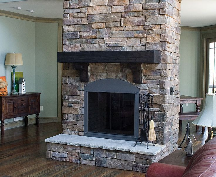 Weather Ledge Stone Fireplace - Pennsylvania Color - For ...