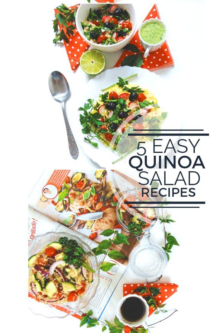 #VEGETARIAN 5 EASY QUINOA SALAD RECIPES AND IDEAS