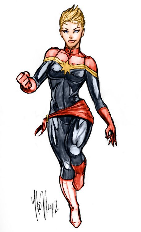 Carol Danvers' new haircut is super badass. Captain Marvel is one of my top Avengers