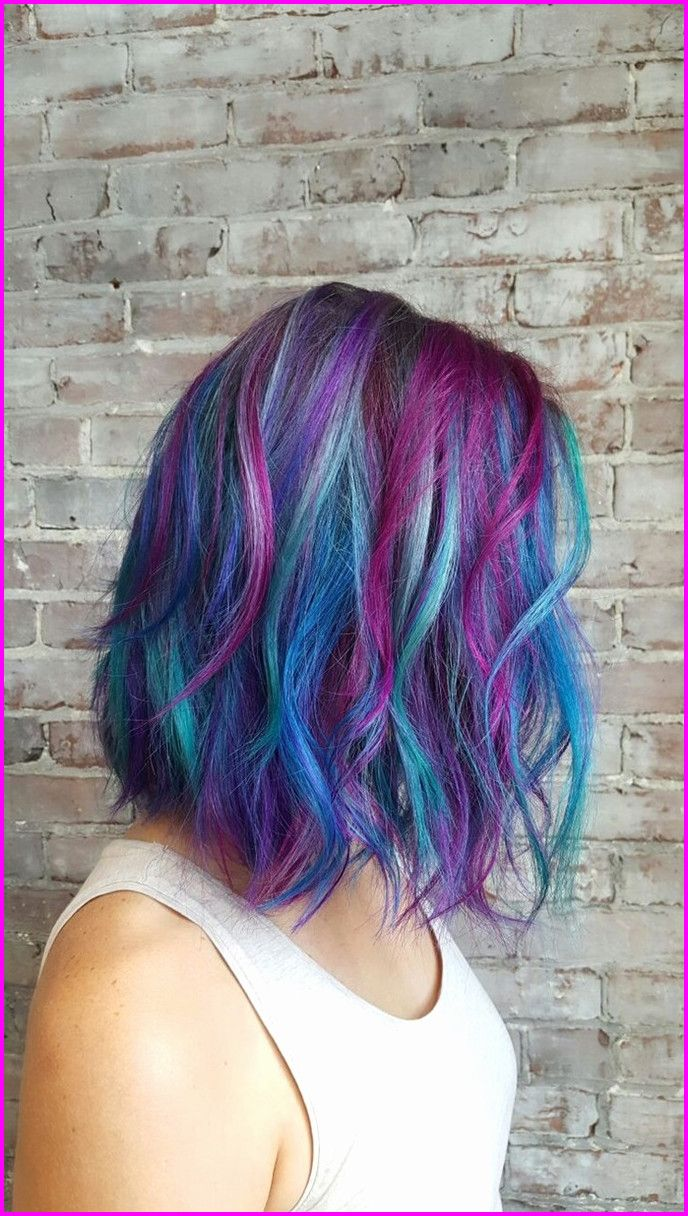 50 Hair Color Ideas For Short Hair Short Haircuts Are The Perfect Platform For Balayage The Color Technique Adds A Blue Purple Hair Hair Styles Mermaid Hair