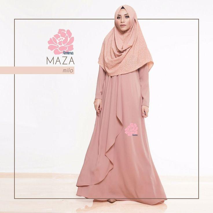 Gamis Amima Maza Dress Milo - baju muslim wanita baju muslimah Untukmu yg cantik syari dan trendy . . Size: S ---> LD 94 | PJG 137 M ---> LD 100 | PJG 140 L ---> LD 106 | PJG 140 . . Detail : - Material : Crepe HQ Bahannya flowy dan ringan cocok untuk acara formal tapi bisa jadi pilihan untuk daily dgn memakai hijab #sabinaINSTAN yang simpel!- Dress dengan aksen layer di bag depan pas buat wisuda atau ke acara formal lain. - Model kerah bulat Zipper depan perfect for #busuifriendly…