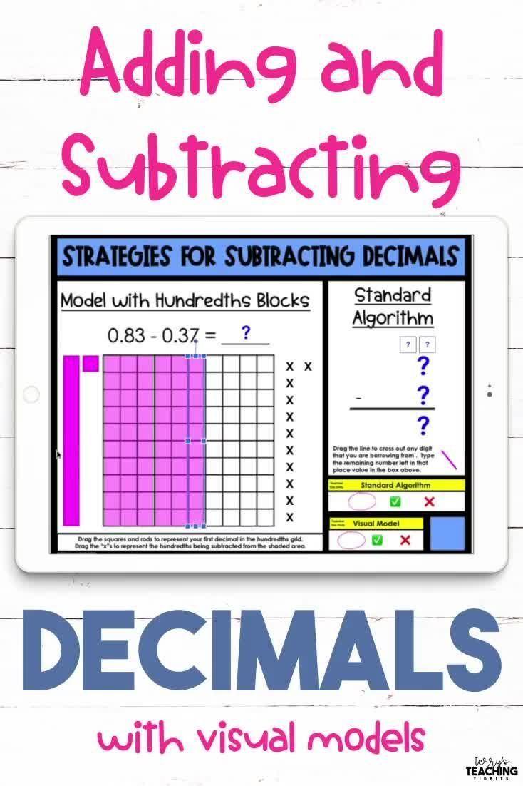 Adding And Subtracting Decimals Digital And Printable Bundle Video Video Subtracting Decimals Decimals Adding And Subtracting Addition subtraction of decimals