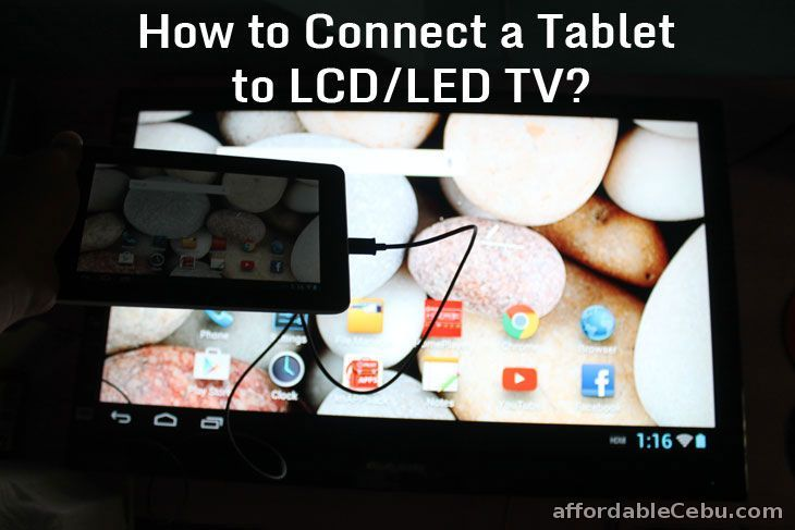 How to Connect Your Tablet to a TV (LCD or LED TV)?  Read more: http://www.affordablecebu.com/load/computer_tricks/how_to_connect_your_tablet_to_a_tv_lcd_or_led_tv/18-1-0-30243