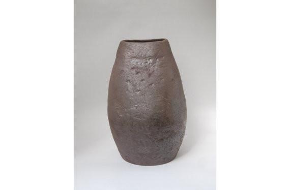 Large Iron Glazed Ceramic Vase