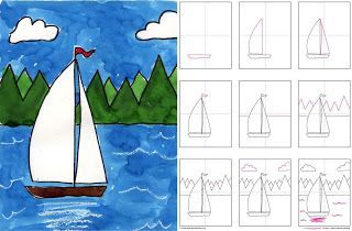 Art Projects for Kids: How to Draw a Sailboat