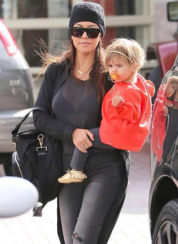 Penelope Disick with mom Kourtney K.