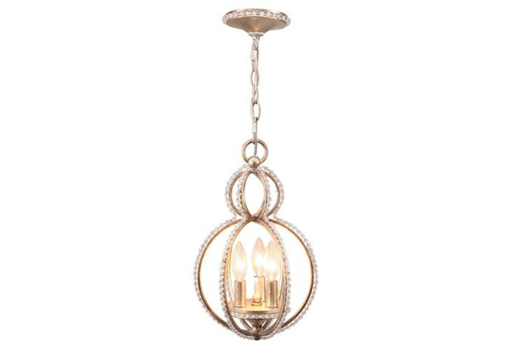 Garland 3-Light Mini Chandelier, Black