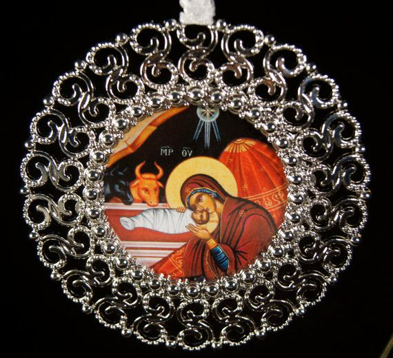 Handmade Christmas Ornament Religious Ornament Icon: 39 Best Images About Orthodox On Pinterest