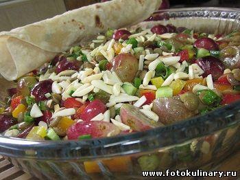 Салат с чечевицей и виноградом - Cалаты, закуски - Кулинарные рецепты ! - ФотоКулинария