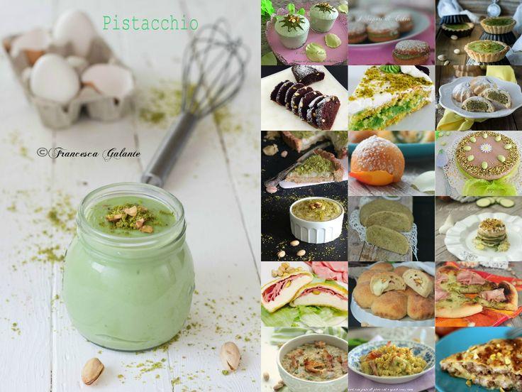 Amici oggi vi presento una raccolta speciale le mie ricette con pistacchi sia dolci che salate .. dai primi piatti ai dolci golosissimi
