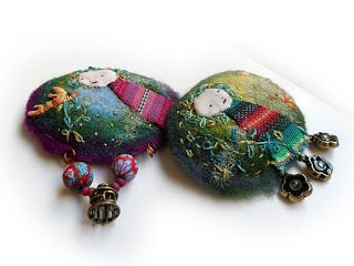 THE FABRIC OF MEDITATION - SARA LECHNER'S BLOG: Art to wear - Angel brooches