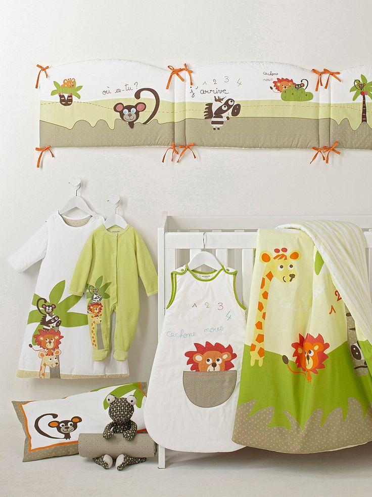 9 best chambre jungle images on Pinterest   Jungle bedroom, Child ...