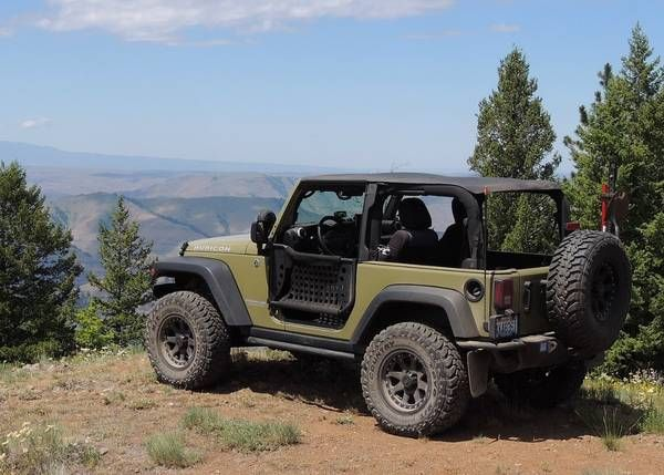 ... and nearly naked with the trail doors and safari top over looking the  Imanha River in the Hell's Canyon Rec. Area. Brandon1024 2013 Jeep Wrangler  Sport