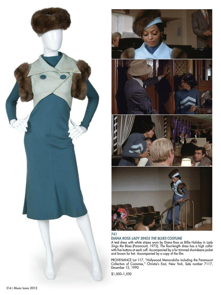 Diana Ross Lady Sings The Blues costume, via http://www.juliensauctions.com