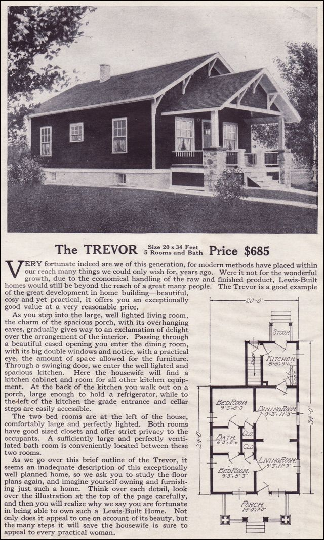 The Trevor Lewis Manufacturing 1916 Bungalow Style