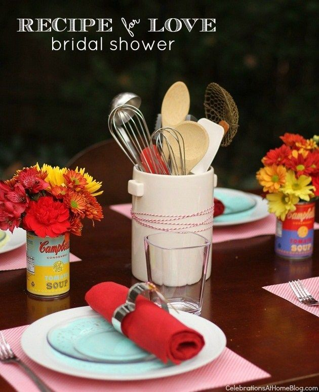 adorable recipe for love bridal shower