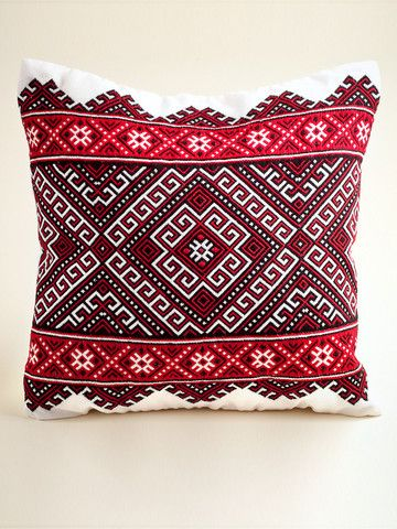 Hutsul Emroidered Pillow with white background | IFAM | Online
