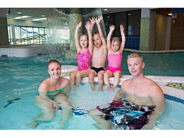 Kids love warm waters of Rokua Spa.