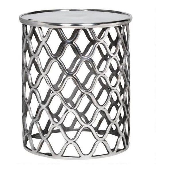 Lattice Side Table -Aluminium ❤ liked on Polyvore featuring home, furniture, tables, accent tables, decor, aluminum accent table, aluminium table, aluminum table, aluminum furniture and aluminum end table