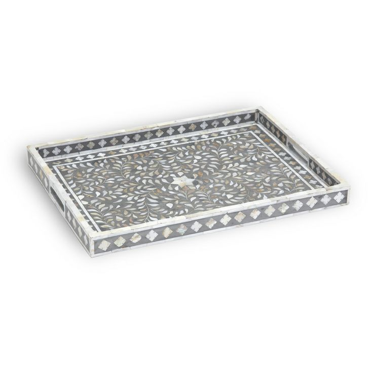 17 best images about mother of pearl furniture on for Long rectangular candle tray