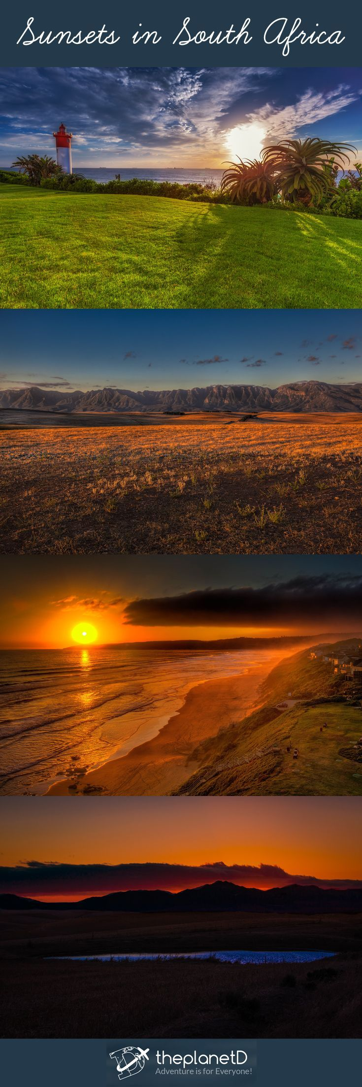 Sunsets in South Africa    South Africa is all about variety of activities, wildlife, adventures and scenery. These photos capture some of the highlights you can find travelling this part of Africa