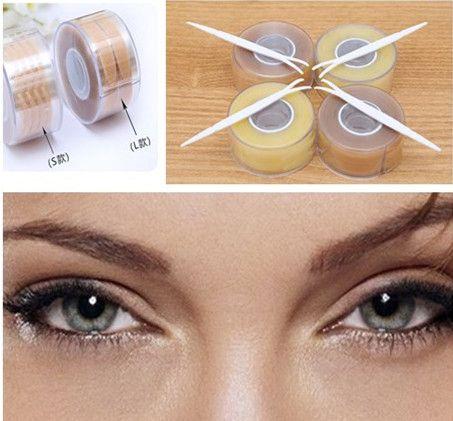 1200 unids/lote Gruesa y Fina Raya de Maquillaje Delineador de ojos Pegatinas Cinta de Doble Párpado para Hacer Los Ojos Más Grandes con la Sombra de Ojos