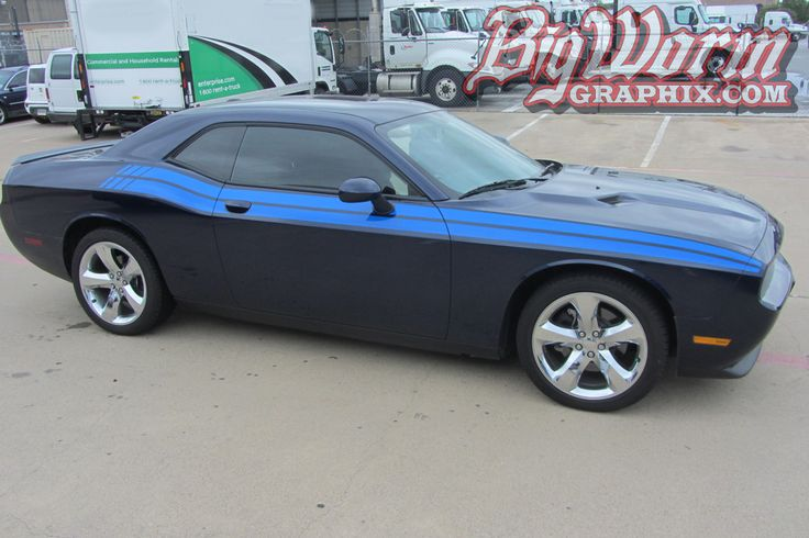 2008 to 2015 Dodge Challenger RT Style Side Stripes
