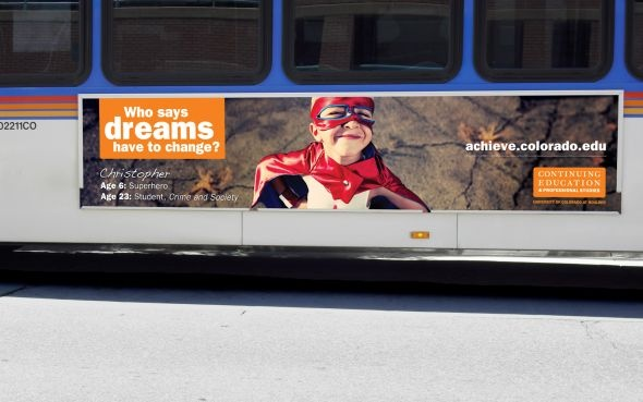 University of Colorado Division of Continuing Education: Bus board, 3