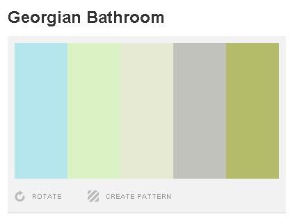 Colour pallet for a Georgian style bathroom