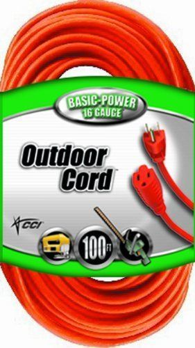 New Outdoor Heavy Duty Extension Cord 100-feet 3-Prong Landscape Garage Workshop #ColemanCable