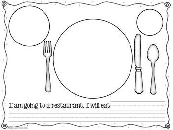 Informative Writing - Students will enjoy writing about what they would eat in a restaurant with this writing lesson.