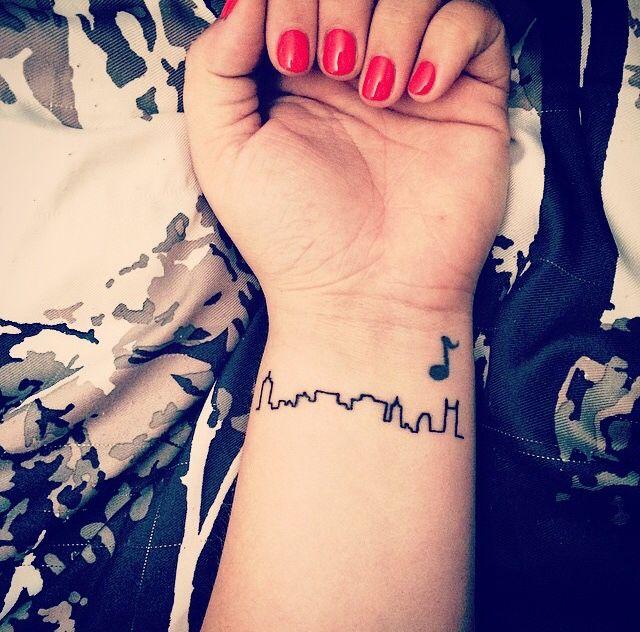 Nashville, Tennessee tattoo on my wrist